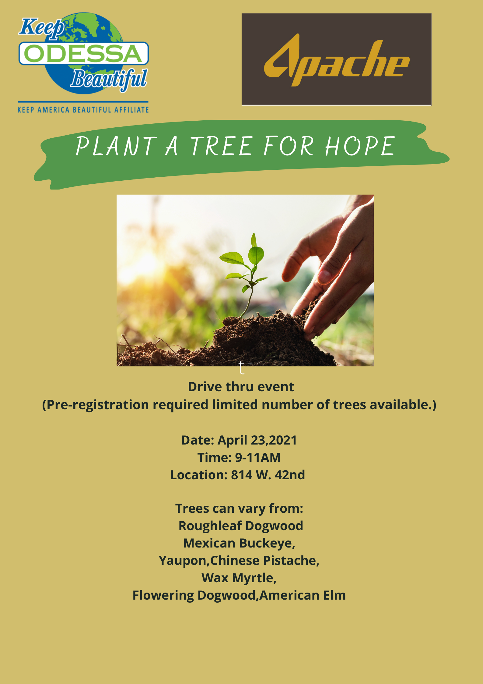 Plant a tree for hope event details